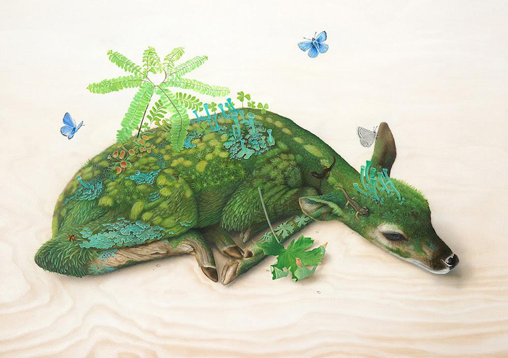 Объединение флоры и фауны в сюрреализме