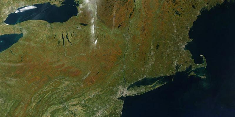 Видео месяца. Осенняя природа: взгляд из космоса